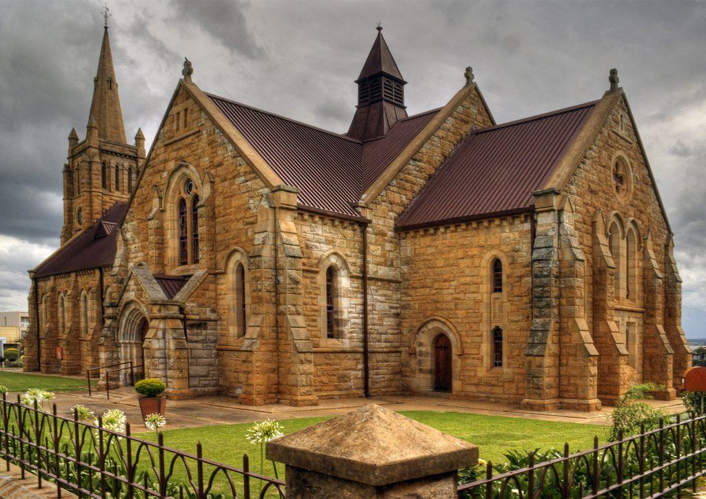 Dutch Reformed Church on church square in Vryheid